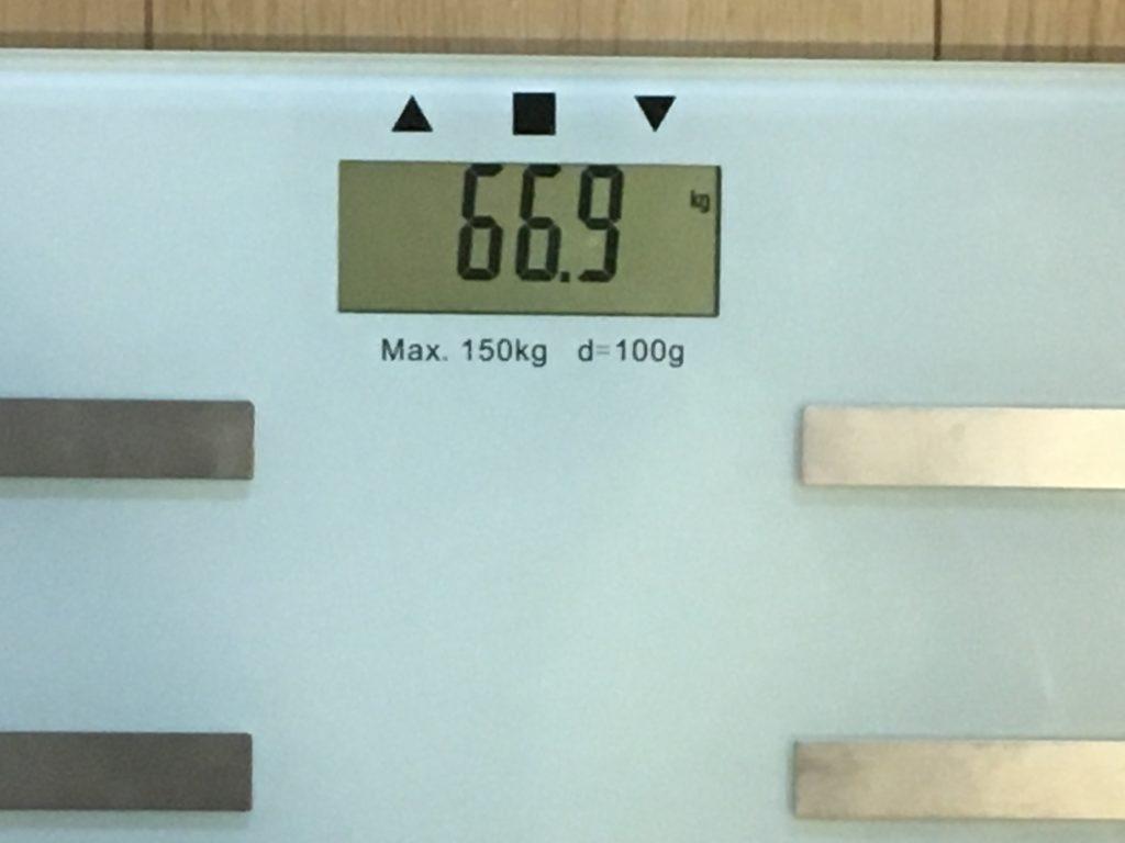 66.9kg