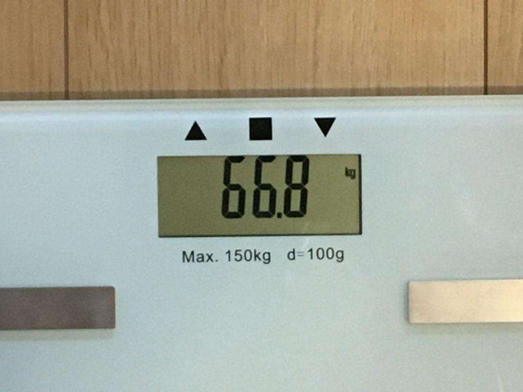 66.8kg
