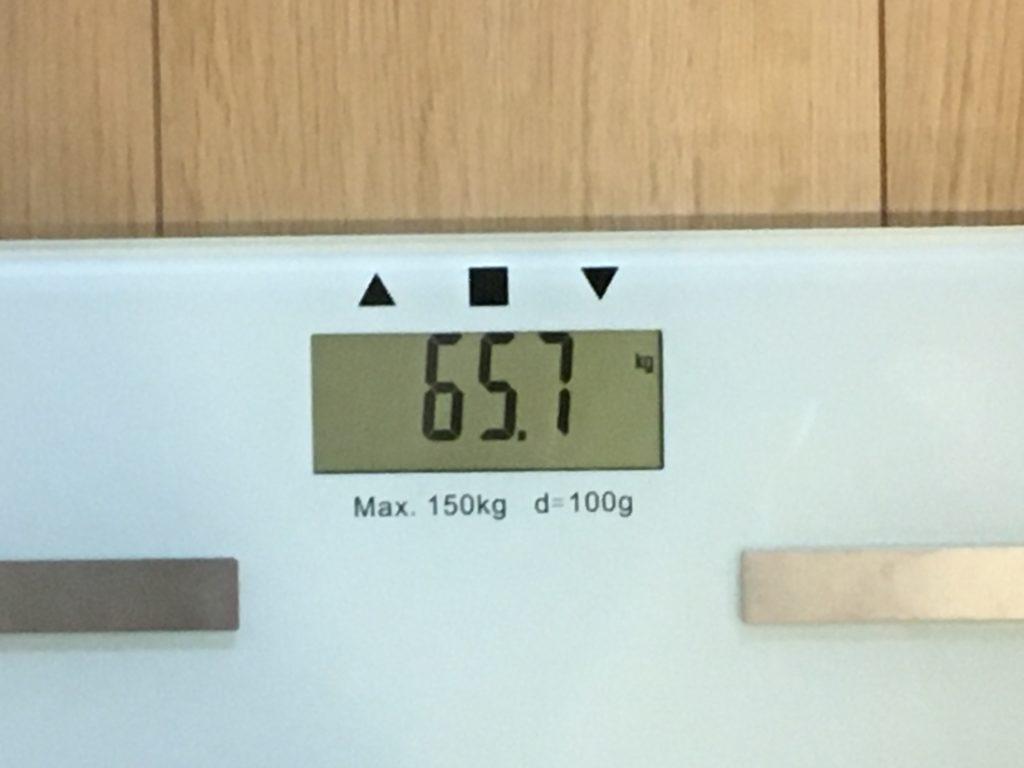 65.7kg