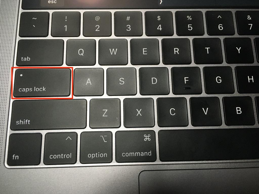 caps lockがオフの状態