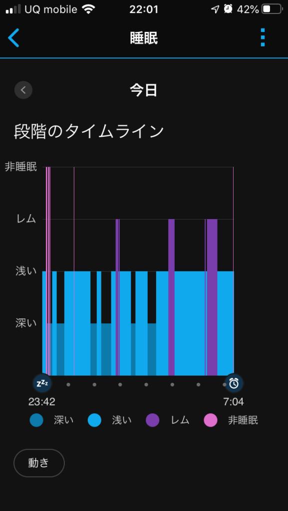 睡眠の記録図